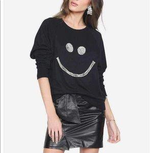 Lauren Moshi Pearl Happy face Pullover. Unworn